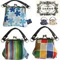 日本製【京都の染物屋さん帆布】がま口財布&小銭入れ