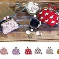 日本製【京都の染物屋さん帆布】動物がま口&たわらポーチ(ビーズ付)