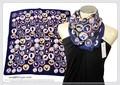 【春夏セール】ファンタジーナチュラル柄入り100%シルクプチスカーフ 04264b
