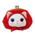 韓国生まれの猫キャラ「チューチュー」赤ずきん がまぐちパース