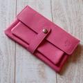シンプルでソフトな本革の長財布 ピンク【日本製】【プレゼントに】【夏カラー】【財布】【母の日】