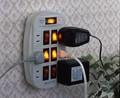 【6つの独立スイッチでこまめに節電できます】 雷ガード付6口節電コンセント