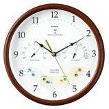 【お天気を予測する電波時計】ウェザーパル電波時計1台4役