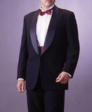 合服*ブラック・タキシードスーツ:シングル1B×1:RM16160【日本製】
