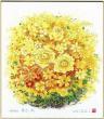 ★開運グッズシリーズ★【開運花風水・本物のシルクスクリーン版画】黄色い花