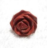 15%OFF■天然石レッドジャスパー  薔薇リング指輪★リング