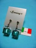 ★【イタリア】ヴェネチアングラス!手作りイヤリング(イタリアベネチアングラス)