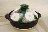 家族だんらん「季節の器」 織部花椿 6号〜9号土鍋(日本製)
