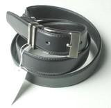 【メンズ用】牛革のベルト(ブラック)Lsize:AT383-04【TROY BROS】