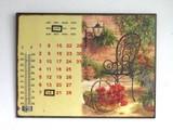 【インテリア・アート】ギフトにぴったり♪【ユニークなアート】温度計付き 万年カレンダーボード