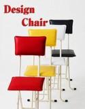 新生活【直送可】【椅子】★売れてます!【デラックスカラーチェア白・赤・黄・黒】☆折りたたみ椅子☆