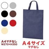 【ベーシックトートA4縦マチなし】不織布製トートバッグ*全5色