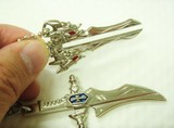 ◇日本製◇■二つの剣が合体  二剣龍キーホルダー