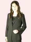 *夏物*ブラックフォーマルジャケット婦人礼服・喪服:EU-480