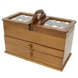 【(日本製)木製ソーイングボックス】 【クローバーシリーズ】