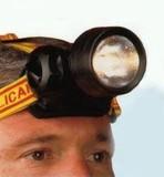 【防災グッズ】 ヘルメットに簡単装着 防水ヘッドアップ懐中電灯