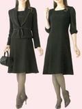 *合物*ブラックフォーマルアンサンブル婦人礼服・喪服:RL166414