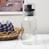 振れる・作れる・注げる・保存できる ドレッシングボトルスリム 120ml ブラック