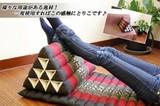 【タイのゾウさん刺繍三角アジアンクッション(4段・マット無し)】