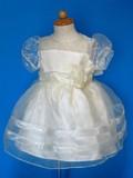 【在庫一掃セール!】キッズドレス9944クリーム☆人気のトドラーサイズです!