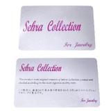 Sehra collectionカード 販促・売り上げ促進用ギャランティーカード