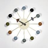 【人気商品】【ジョージ・ネルソン】ボールクロック マルチカラー 掛け時計  デザイン雑貨