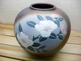 【在庫限りの限界プライス】7号花瓶 山茶花