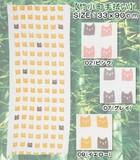 【定番商品】キュートなネコ(猫)プリント♪抗菌消臭吸水性に優れた竹小町手ぬぐい!
