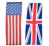 アメリカン&ブリティッシュな雰囲気作りに!USA&UKナイロンフラッグS【タペストリーS】