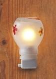 手作りガラスのアロマライト 癒しのランプ(花)