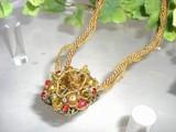 ◆ブティック系◆ミセス系◆ヨーロピアンスタイルストーンメダルネックレス