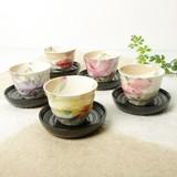 ■美濃焼ギフト ■和藍 花かおり茶托付煎茶