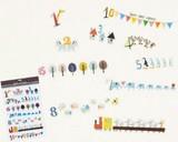 ウォールステッカー (S) ナンバー (インテリアシール/壁紙/模様替え)☆Wall Sticker☆