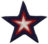 ■ワッペン■星 トリコロール 青