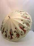 通年新作】晴雨兼用・長傘−婦人 甲州産16本骨ほぐし織フレンチマダム超軽量晴雨兼用UVケア日本製手開傘