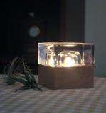 【間接照明としても人気】【CUVO】ガラスキューブアロマランプ