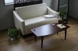 【直送可】ウオールナット・リビングテーブル★高級感ある木目の折りたたみテーブル 新生活
