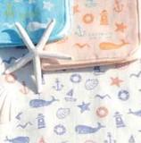 Towel Handkerchief Marine Stamp