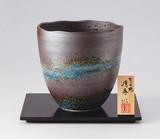 【セール品】 廻りルリ釉 広口花瓶