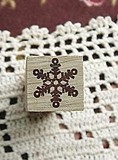 オリジナルスモールスタンプ*1.4×1.3cm*ロングハンドル*雪の結晶♪アイデア次第で可能性無限大♪