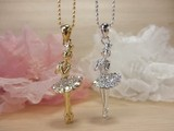 Rhinestone Ballerina Necklace