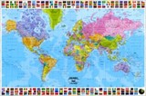 ■ポスター■610X915mm★World Map - political english