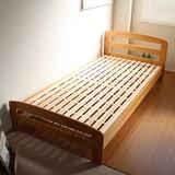 【完売・次回未定】天然木すのこシングルベッド 通気性バツグン 木製 ナチュラル