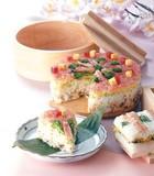 【ギフト】【キッチン】国産わっぱ <デコ寿司 丸> 寿司ケーキ用押寿司キット<化粧箱入>