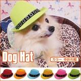 大人気のドッグハットに、ポップな色目のカラーバージョンが登場♪【カラードッグハット 中折れ帽】6色☆
