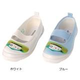 <日本製>【シンカンセン】キッズ上履き S01(ホワイト・ブルー)