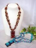 ◆Web限定品◆エスニック調◆エスニック天然石デザインネックレス