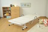 【直送可】【安眠宣言】 天然木桐すのこベッド 折り畳みタイプ