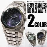【圧倒的な重厚感!】オクタゴン・ビッグフェイス腕時計【保証書付き】時計
