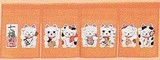 Japanese Style Fortune Japanese Noren Curtain Beckoning cat